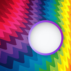 Rainbow abstract background with circle banner