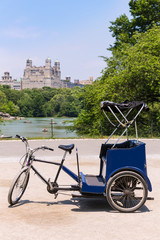 Central Park Manhattan The Lake rickshaw bike NY