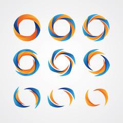 Set of circular creative logos