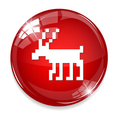 deer icon / button
