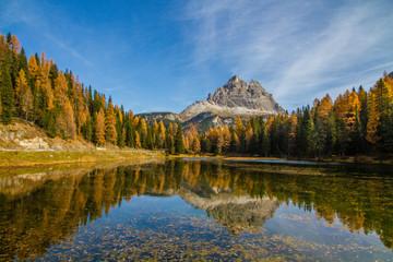 Mountain Reflection in the Lake-Tre Cime,Dolomites