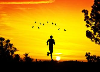 corriendo por el monte