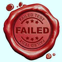 failed test stamp