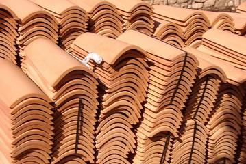 A stack of orange piles