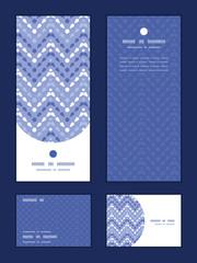 Vector purple drops chevron vertical frame pattern invitation