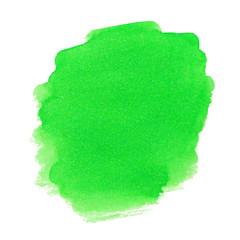Green watercolor spot