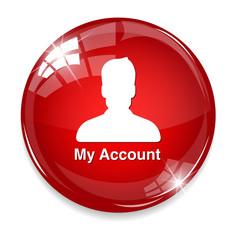 icon  account profile button