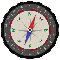 Compass in dark shades isolated