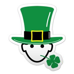 Pegatina simbolo St Patrick color