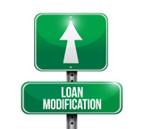 loan modification street sign illustration poster