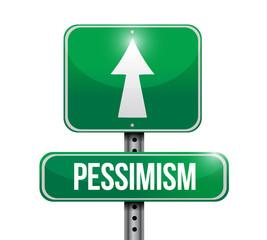 pessimism street sign illustration design