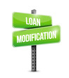 loan modification street sign illustration design