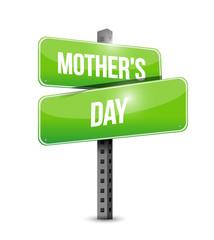 mothers day street sign illustration design