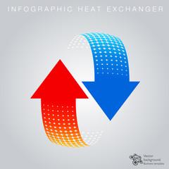 Symbol Graphic #Heart Exchanger, Heat Circulation