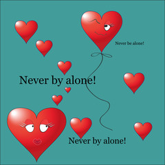 Never be alone Valentine icon