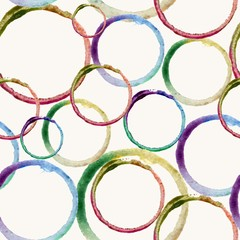 Watercolor circle stain pattern