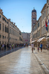 Street view of Dubrovnik, Croatia