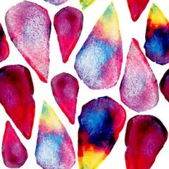 Watercolor drops art seamless pattern