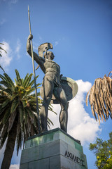 Statue of Achilles in Corfu, Greece