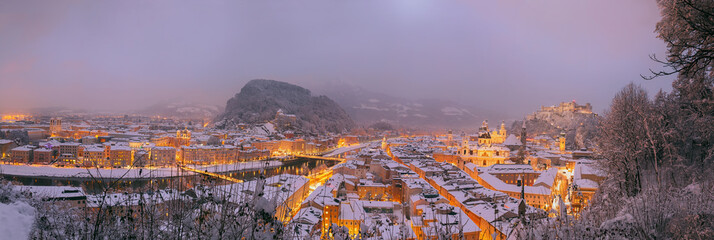 Salzburg Stadt Panorama View