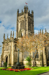 Manchester Cathedral in Autumn