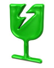 Green fragile icon