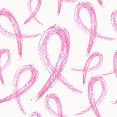 Breast cancer ribbon seamless pattern