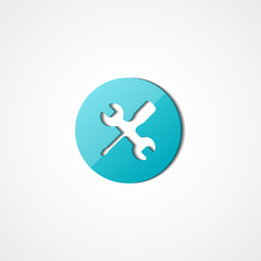 Wrench and screwdriver web icon