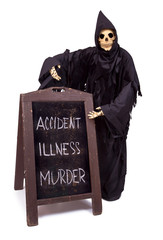 Grim Reaper offers a choice of menu