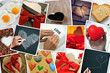 Zdjęcia na płótnie, fototapety, obrazy : collage of snapshots of hearts and heart-shaped things shot by m