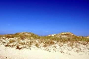 Dünenlandschaft vor strahlend, blauen Himmel