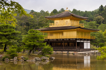 Kinkakuji - golden pavilion in Kyoto, Japan