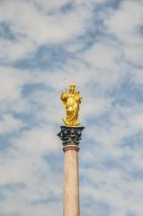 The Mariensäule column in Munich, Germany.