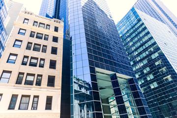 Lower Manhattan buildings New York City USA