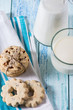 Healthy cookie and fresh milk