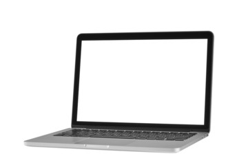 Laptop computer in monotone  isolated on white