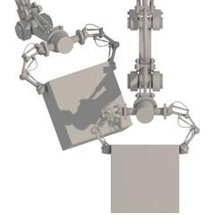 hydraulische Greifarme mit Paket