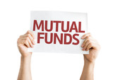 Mutual Funds card isolated on white background poster