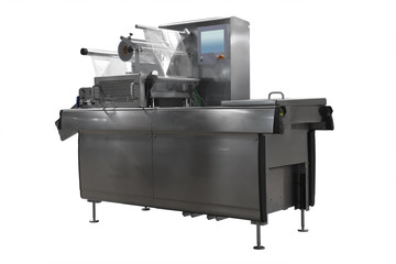 Isolated modern tray sealer for packing products