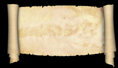 Antique parchment scroll.