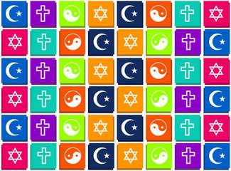 Inter religious seamless background