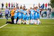Zdjęcia na płótnie, fototapety, obrazy : Football match for children. shout team, soccer game