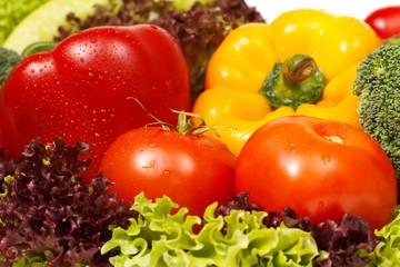 Fresh vegetables closeup