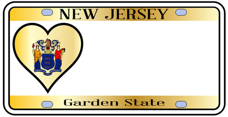New Jersey State License Plate