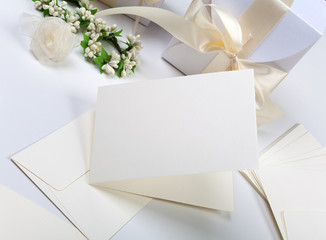 Blank wedding invitation