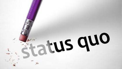 Eraser deleting the concept Status Quo