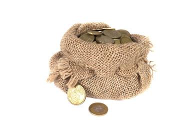 full bag of jingling coins