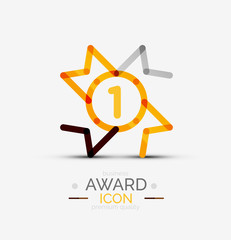 Award icon, logo.