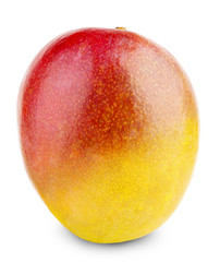 juicy mango isolated on the white background