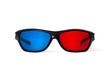 3d glasses isolated on white background.